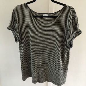 Short sleeve striped T